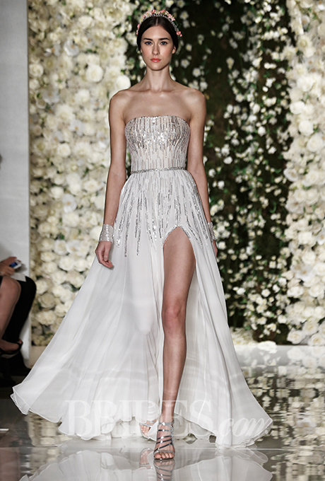Reem Acra wedding gown
