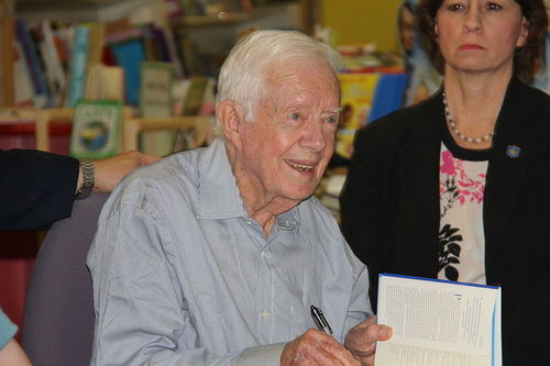Jimmy Carter at a book signing in Raleigh, N.C., in April 2014. Credit: Mark Turner via Wikimedia Commons.