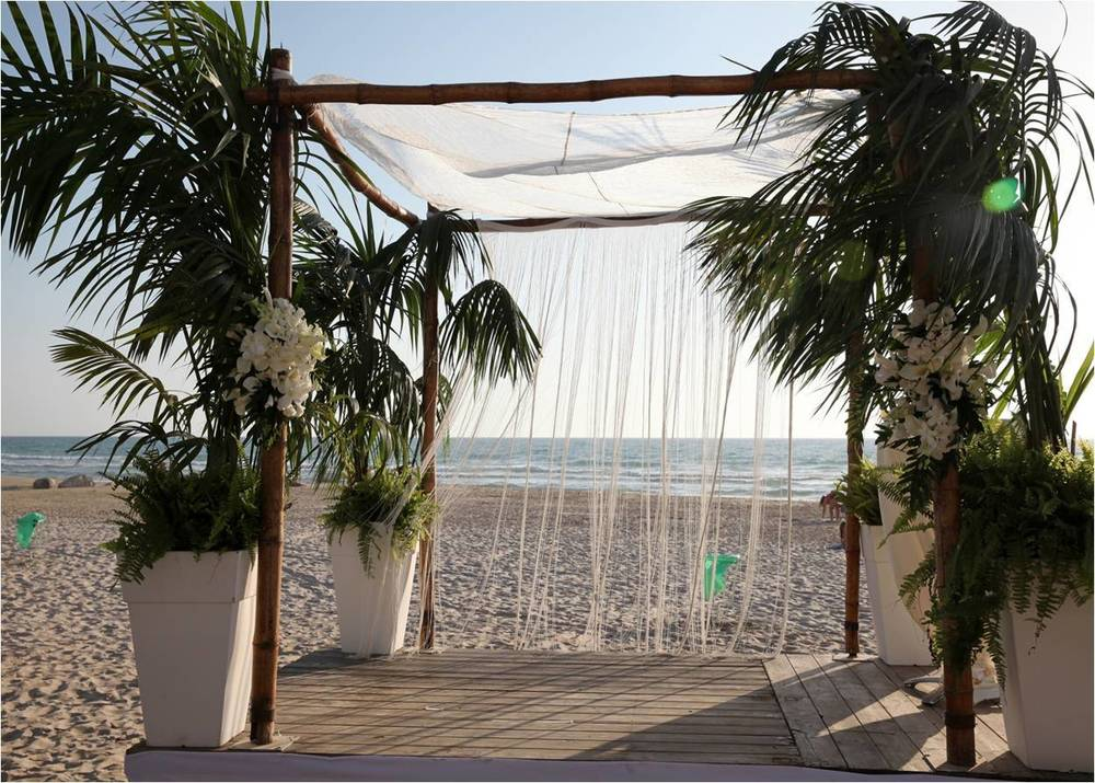 Click photo to download. Caption: The Bamboo Village wedding venue in Netanya. Credit: Bamboo Village.