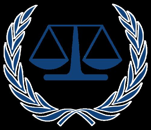 The International Criminal Court logo. Credit: Wikimedia Commons.