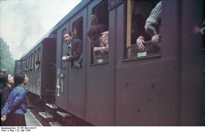Click photo to download. Caption: The Nazi deportation of Roma from Asperg, Germany, in May 1940. Credit: German Federal Archives.