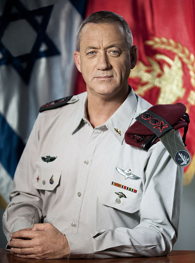 Israel Defense Forces Chief of Staff Lt. Gen. Benny Gantz. Credit: Wikimedia Commons.
