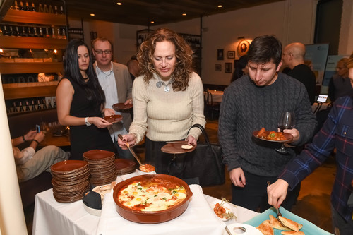 "Click photo to download. Caption: The Jan. 14 event at New York City's Balaboosta restaurant that launched the World Jewish Heritage Organization's eBook, ""Israel's Top 100 Ethnic Restaurants."" Credit: Shahar Azran."