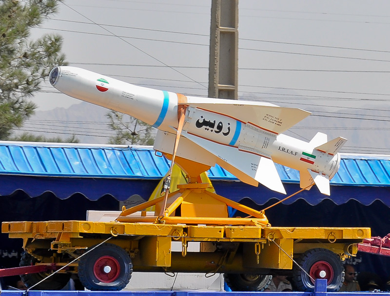 An Iranian-produced Zoobin missile (illustrative). Credit: Wikimedia Commons.