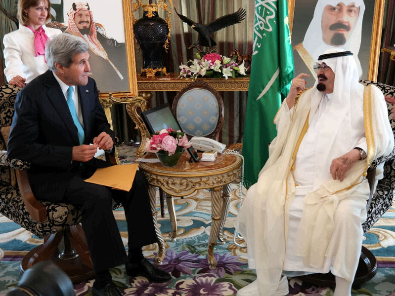 U.S. Secretary of State John Kerry meets with Saudi King Abdullah bin Abdulaziz in Jeddah, Saudi Arabia, in June 2014. Credit: U.S. Department of State.