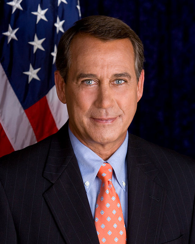 U.S. Speaker of the House John Boehner (R-Ohio). Credit: U.S. Congress.