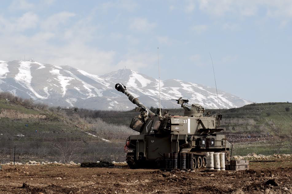 Click photo to download. Caption: Israeli artillery prepares to strike back into southern Lebanon following a Hezbollah anti-tank fire attack in the northern Mount Dov region that killed two Israeli soldiers and wounded seven others on Jan. 28. Credit: IDF Spokesperson.