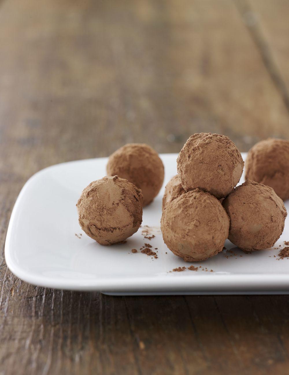 Click photo to download. Caption:Chocolate-Mango Ganache Truffles. Credit:Joy of Kosher Magazinewith Jaime Geller.
