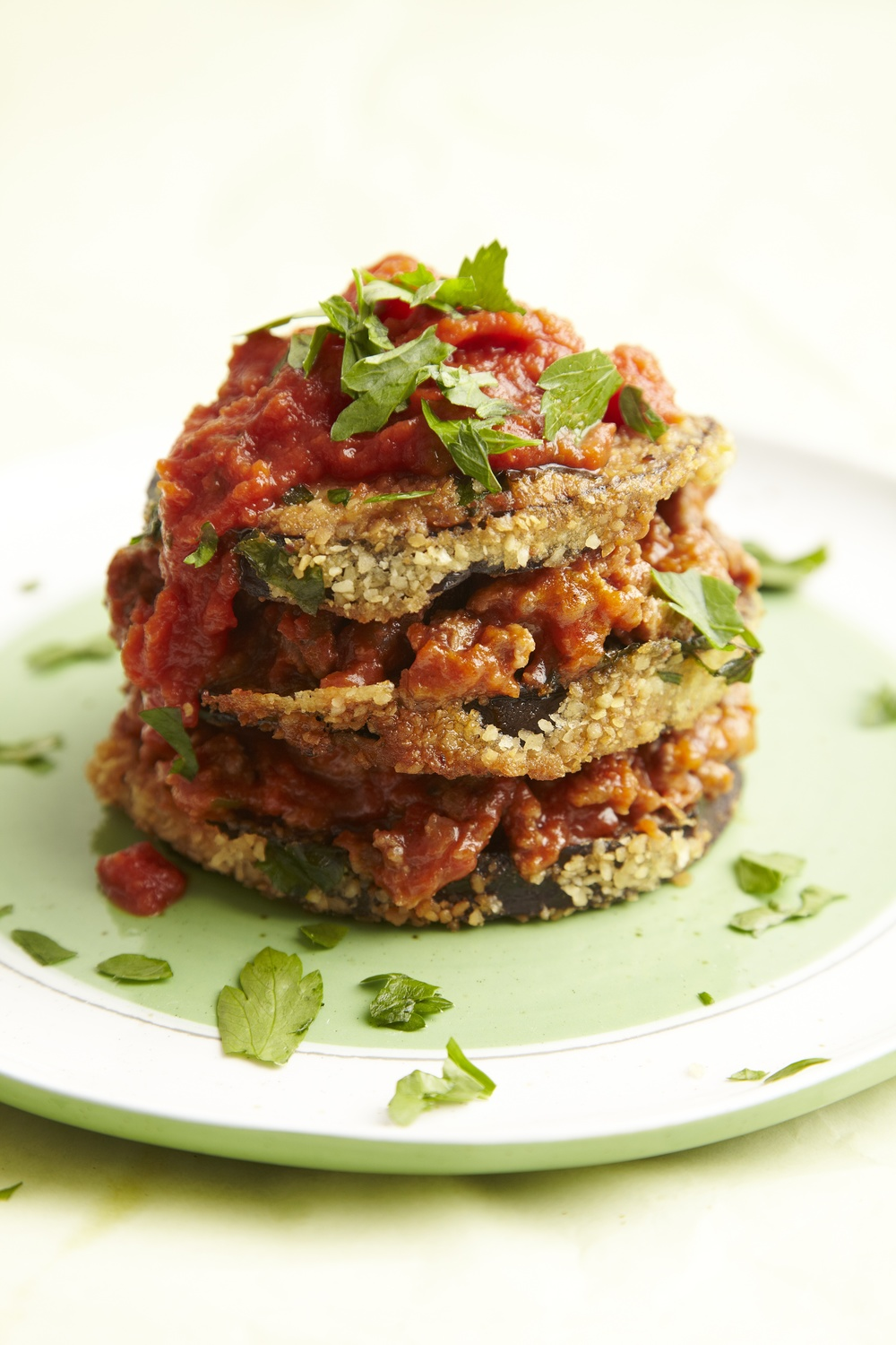 Click photo to download. Caption: Eggplant Tomato Stacks. Credit: Joy of Kosher Magazine with Jaime Geller.
