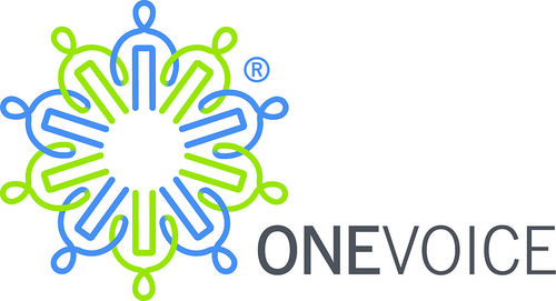The logo of OneVoice, a U.S.-funded organization reportedly working to unseat Prime Minister Benjamin Netanyahu. Credit: Wikimedia Commons.