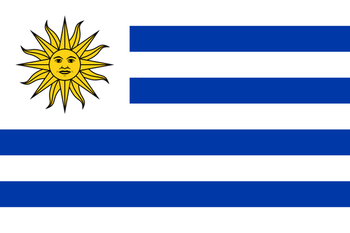 The flag of Uruguay. Credit: Wikimedia Commons.