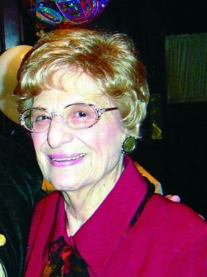 Click photo to download. Caption: Violet Spevack, 98, retired after writing a newspaper column that spanned five decades. Credit: Cleveland Jewish News.