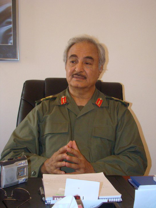 Libyan General Khalifa Haftar. Credit: Wikimedia Commons.