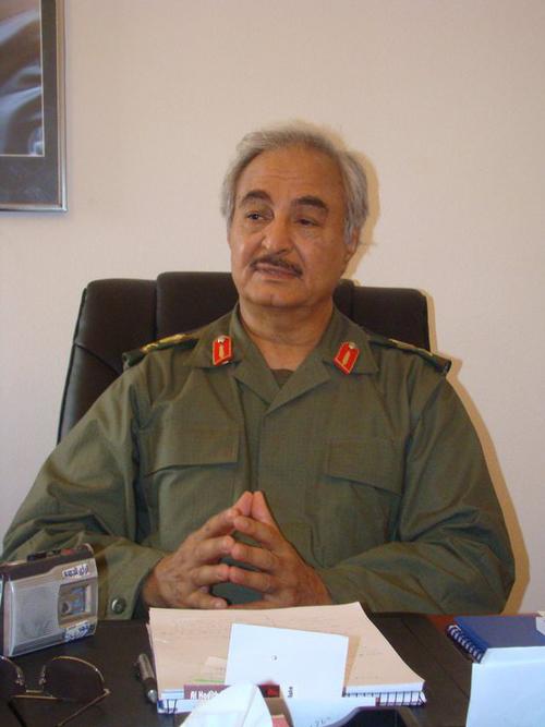 Libyan General Khalifa Haftar. Credit: Wikimedia Commons.
