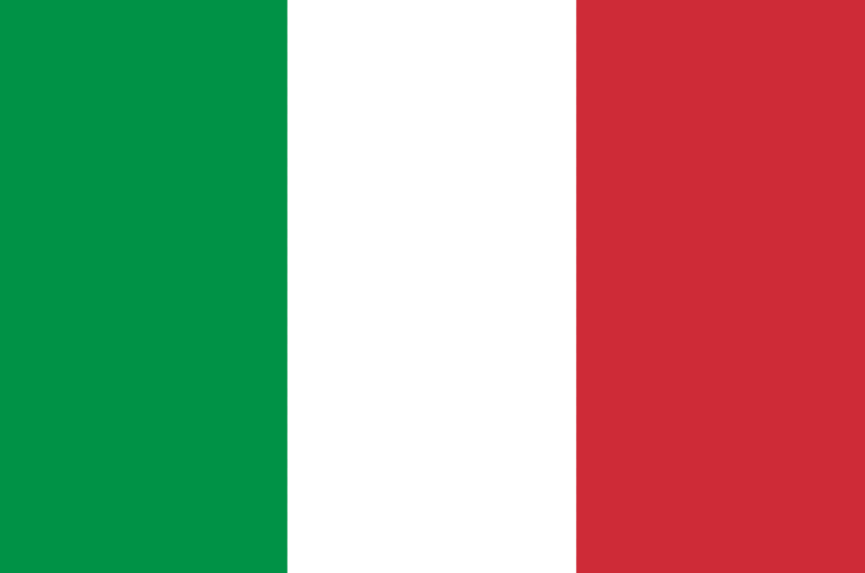 The Italian flag. Credit: Wikimedia Commons.