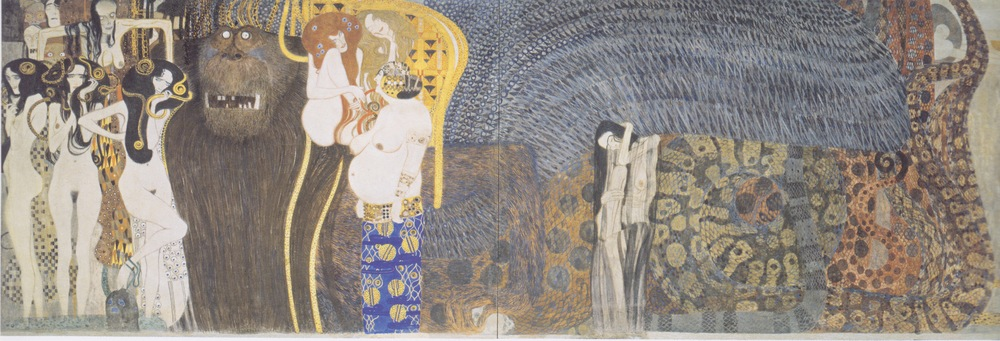 """Beethoven Frieze"" by Austrian artist Gustav Klimt. Credit: Wikimedia Commons."