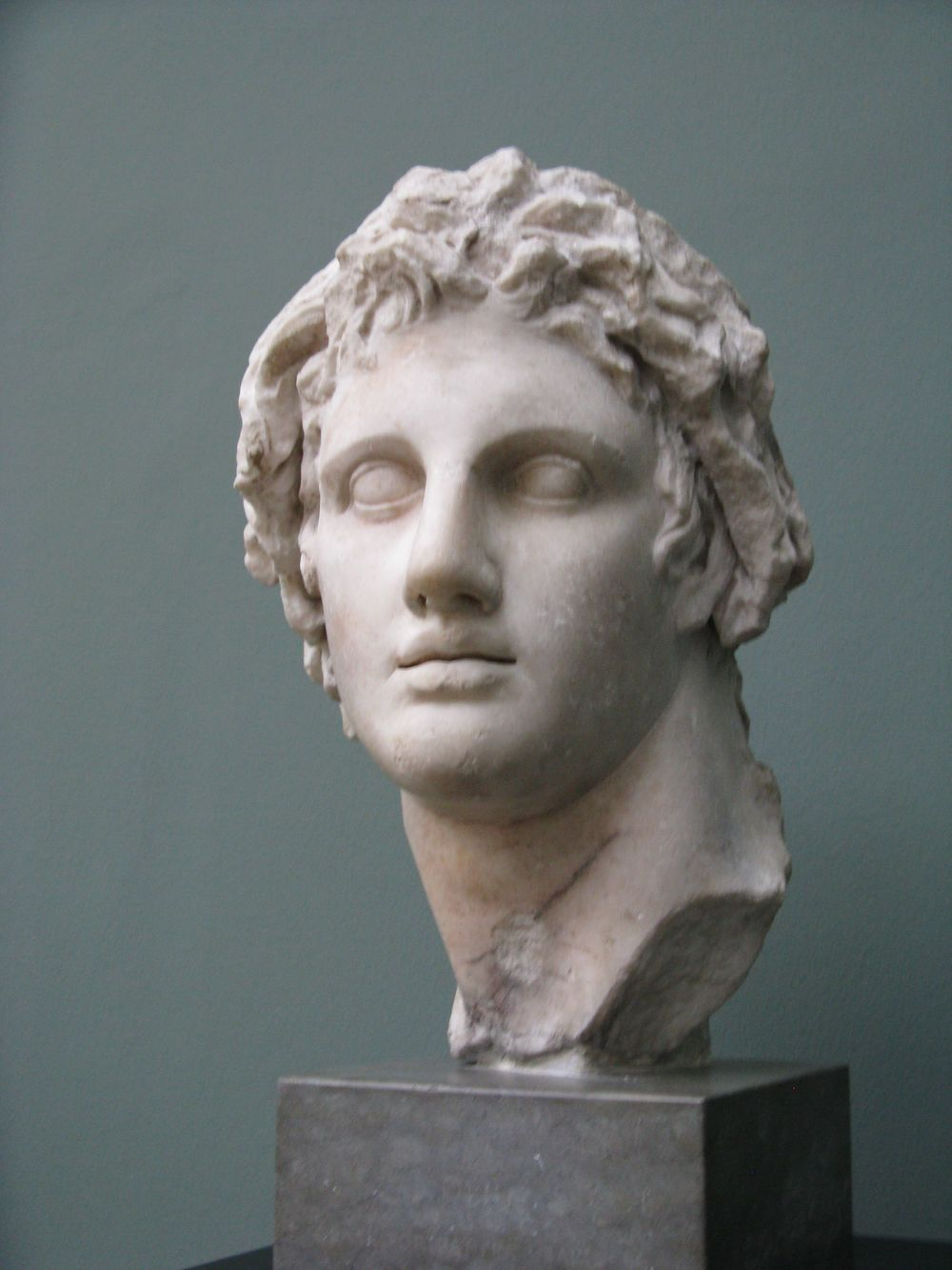 A statue of the head of Alexander the Great. Credit: Wikimedia Commons.