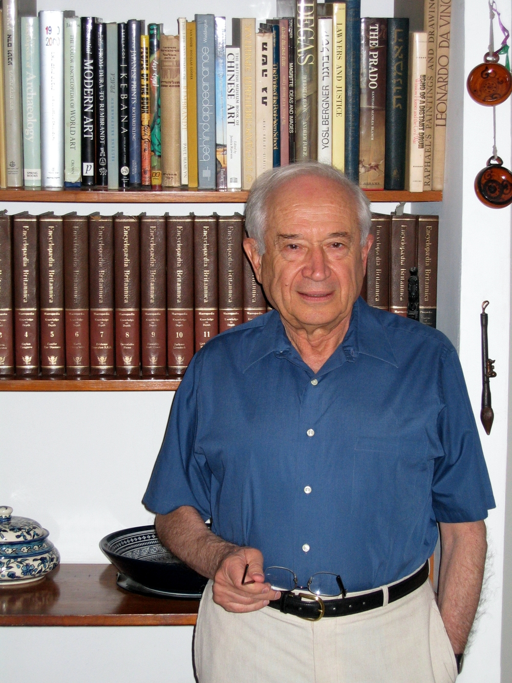 "Click photo to download. Caption: Hebrew University of Jerusalem's  Professor Raphael Mechoulam, who is known as ""the father of medical marijuana."" Credit: Tzahy via Wikimedia Commons."