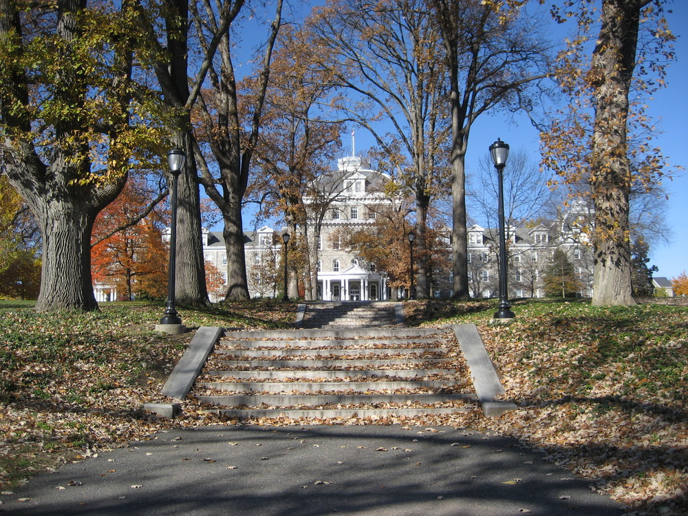 The Swarthmore College campus. Credit: Wikimedia Commons.