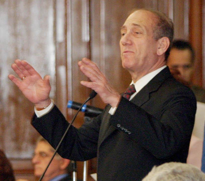 Ehud Olmert. Credit: Wikimedia Commons.