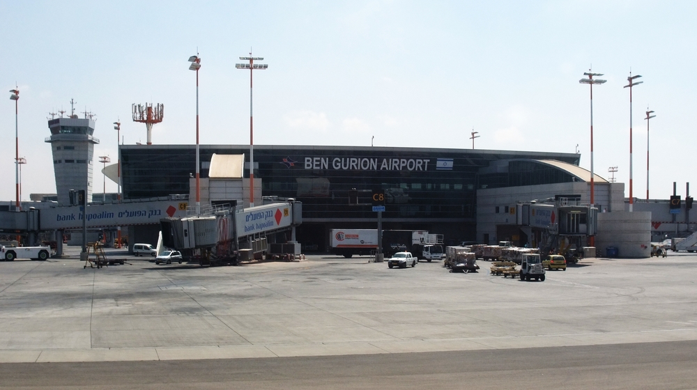 Ben Gurion International Airport in Israel. Credit: Wikimedia Commons.