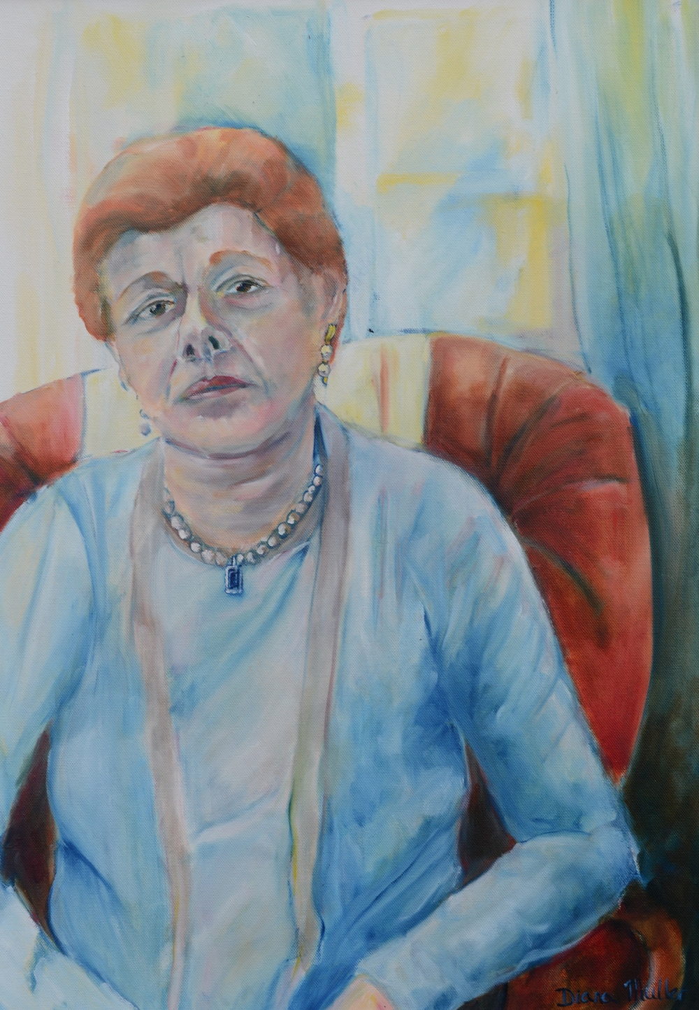 Click photo to download. Caption: Diana Muller's portrait of Irish Holocaust survivorSuzie Diamond. Credit: Diana Muller.