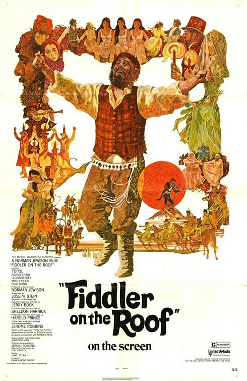 "The film poster for ""Fiddler on the Roof."" Credit: Wikimedia Commons."