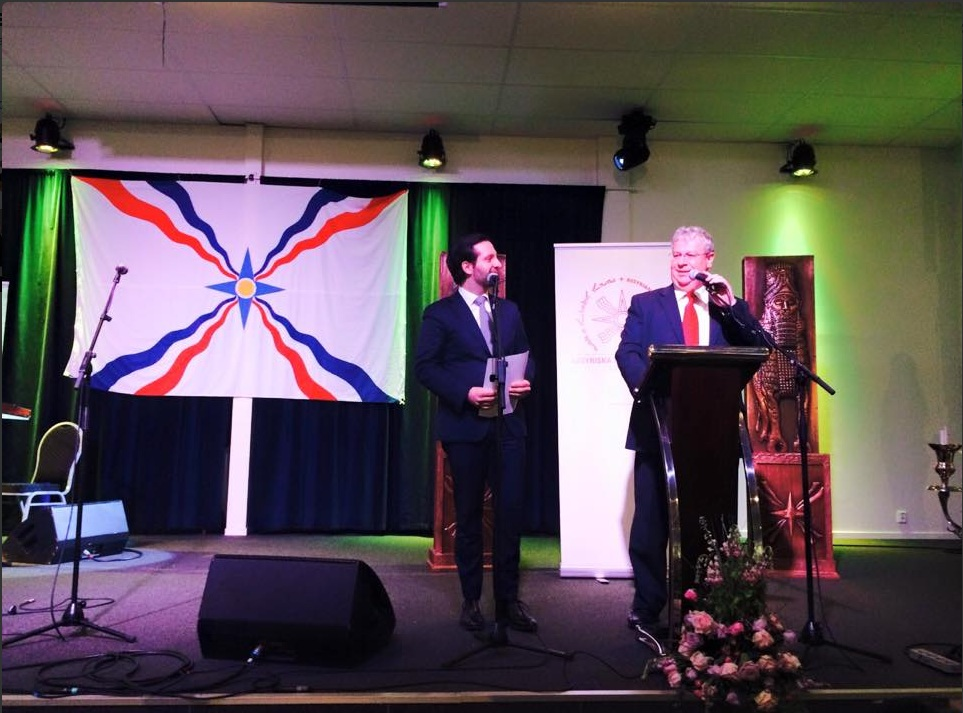 Israeli Ambassador to Sweden Isaac Bachman celebrating the Assyrian New Year. Credit: Twitter.