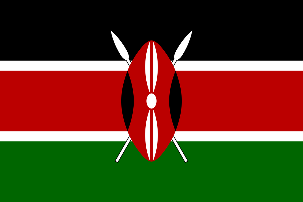 The flag of Kenya. Credit: Wikimedia Commons.