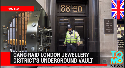 Thieves raided 300 safety deposit boxes in London. Credit: YouTube screenshot.