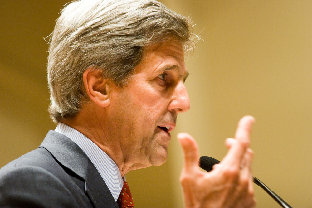 The U.S. State Department, headed by Secretary of State John Kerry (pictured), said no sanctions on Iran will be lifted unless international monitors can verify that the Islamic Republic is curbing nuclear enrichment in accordance with the nuclear deal. Credit: Wikimedia Commons.