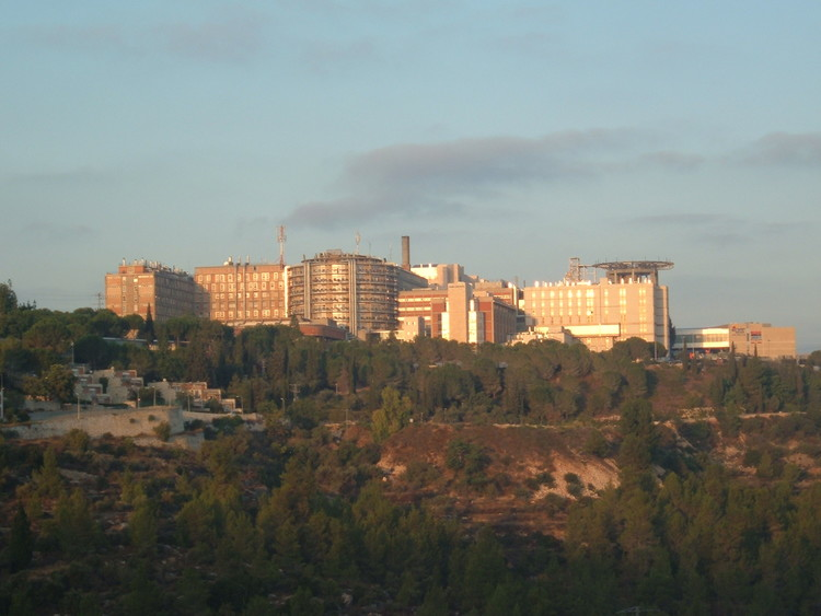 Hadassah Ein Kerem Medical Center, where Shalom Yohai Sharki died on Thursday morning. Credit: Wikimedia Commons.