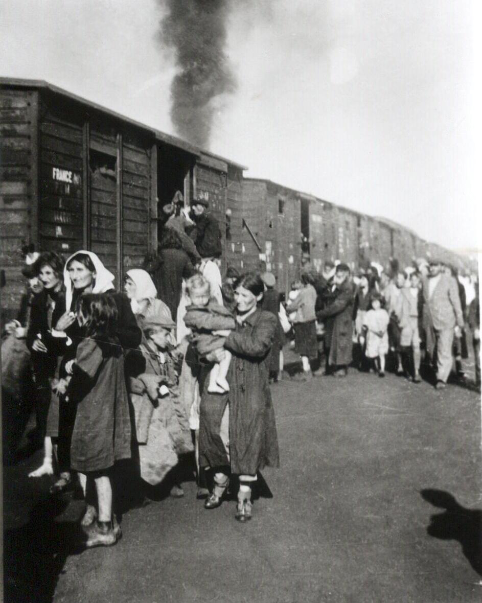 American troops saved Jews being deported on a Nazi train similar to the one pictured from the Bergen-Belsen concentration camp to the Theresienstadt camp in 1945. Credit: Wikimedia Commons.