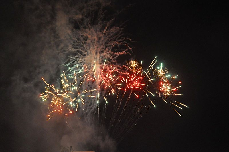 Fireworks in Tel Aviv for Israel's 64th Independence Day in 2012. Credit: Oren Peles via Wikimedia Commons.