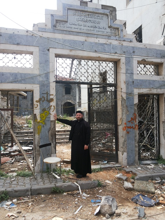 The remains of the destroyed St. Mary's Syrian Orthodox Church in Homs, Syria. Credit: Aid to the Church in Need.