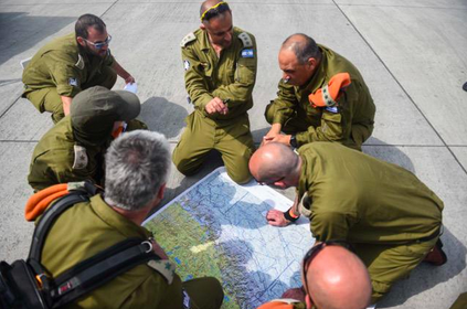 IDF team members assess the earthquake damage in Nepal. Credit: IDF Spokesperson via Twitter.