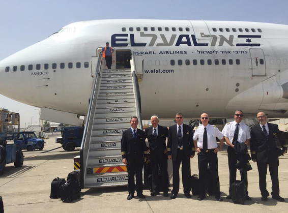 An El Al Airlines plane that brought Israelis home from earthquake-battered Nepal. Credit: El Al Airlines via Twitter.