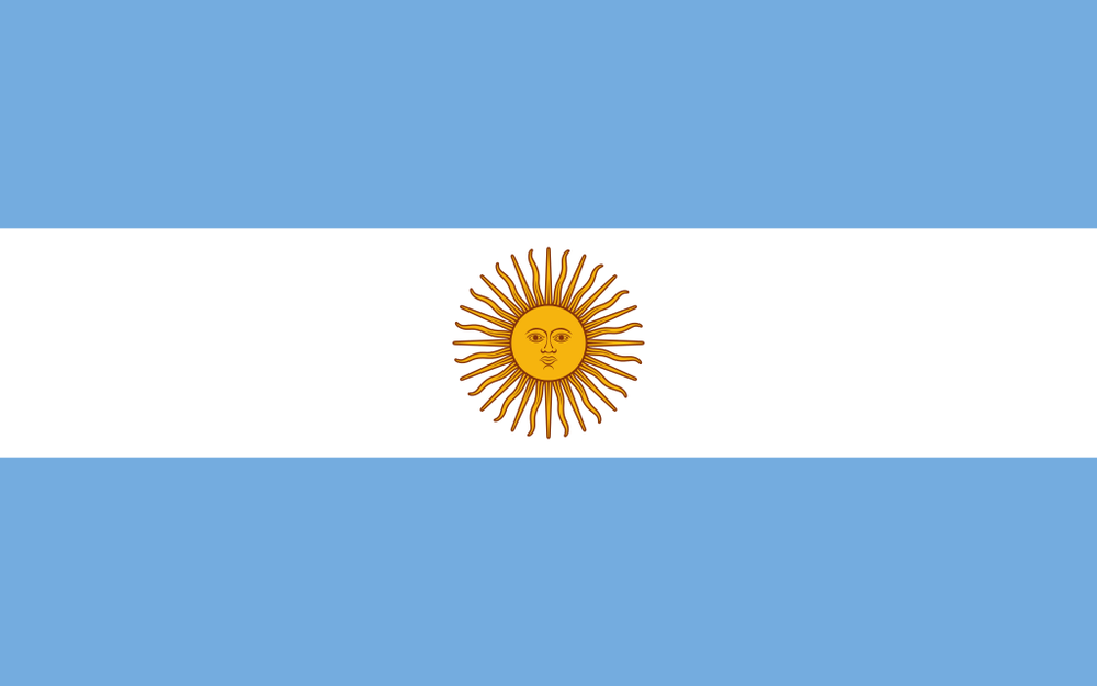 The flag of Argentina. Credit: Wikimedia Commons.