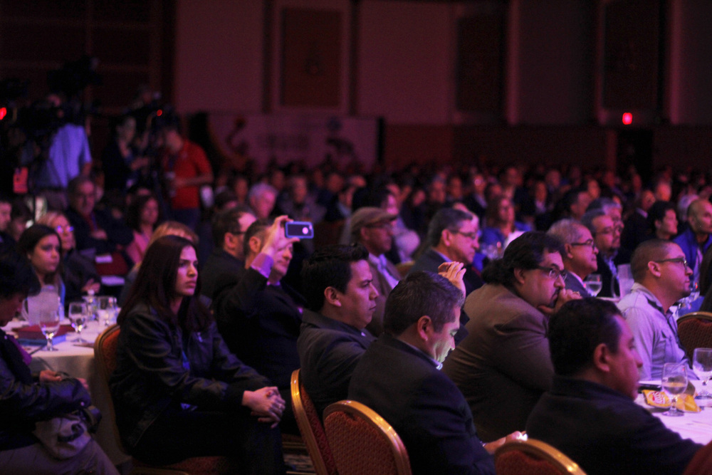 Click photo to download. Caption: Attendees of the National Hispanic Christian Leadership Conference (NHCLC)/CONEL convention in Houston. Credit: Carlos Campos.
