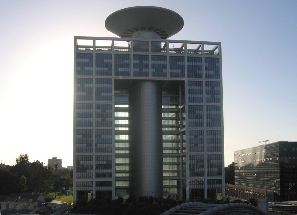 The Israeli Defense Ministry headquarters in Tel Aviv. Credit: Wikimedia Commons.