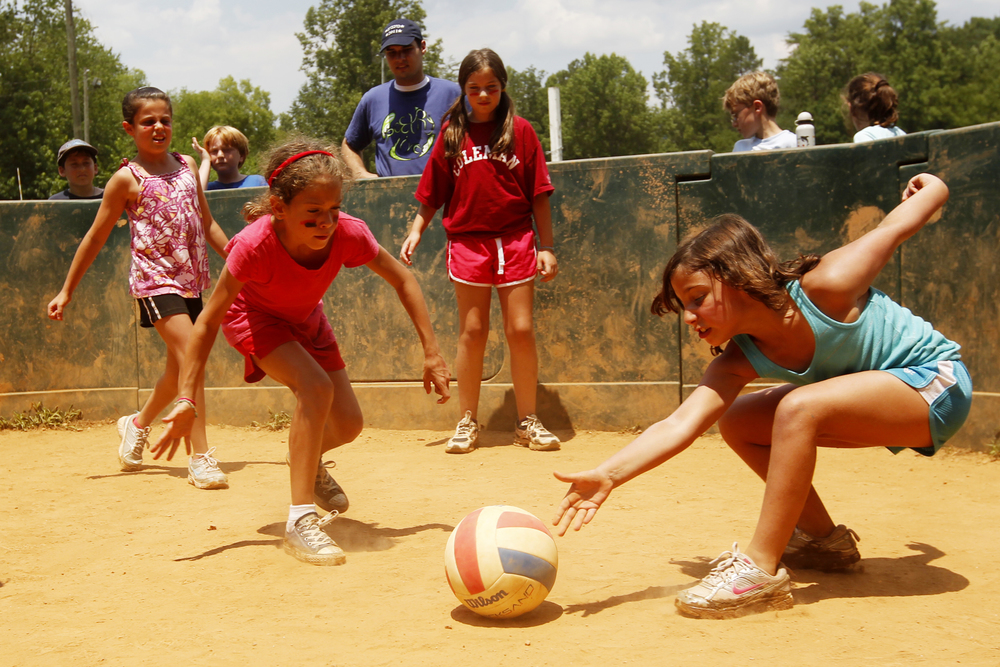 Click photo to download. Caption: Sports at a JCamp180-supported summer camp. Credit: Provided photo.