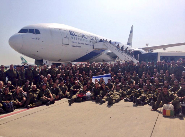 The returning IDF aid delegation from Nepal. Credit: IDF Spokesperson via Twitter.