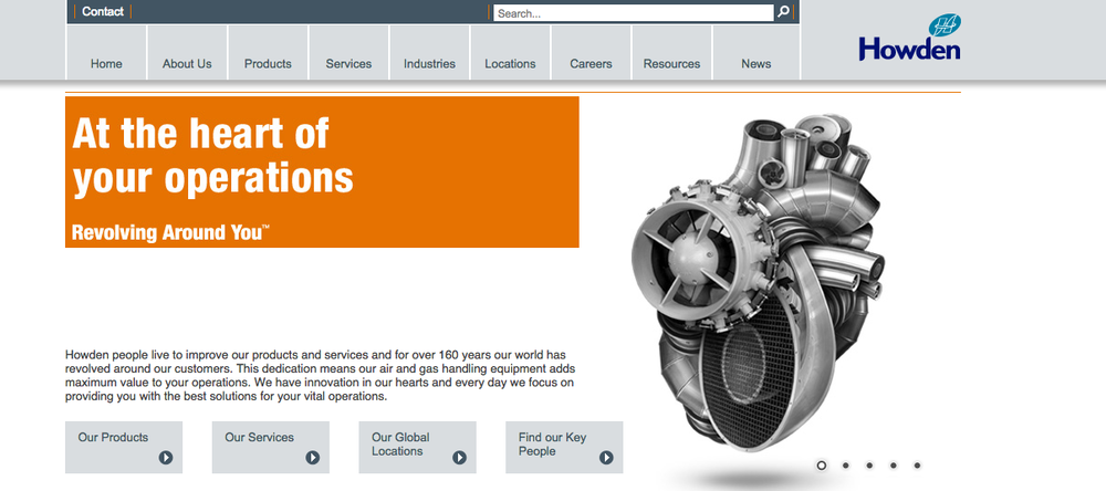 The website of Czech Republic-based Howden CKD Compressors. Credit: Screenshot.