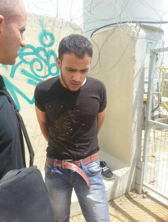 The Palestinian driver who admitted to a car-ramming attack in Judea and Samaria. Credit: Israel Hatzolah via Twitter.