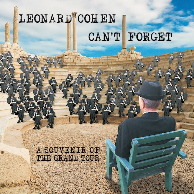 "Click photo to download. Caption: The cover of Leonard Cohen's newly released live album, ""Can't Forget: A Souvenir of the Grand Tour."" Credit: Sony Legacy."