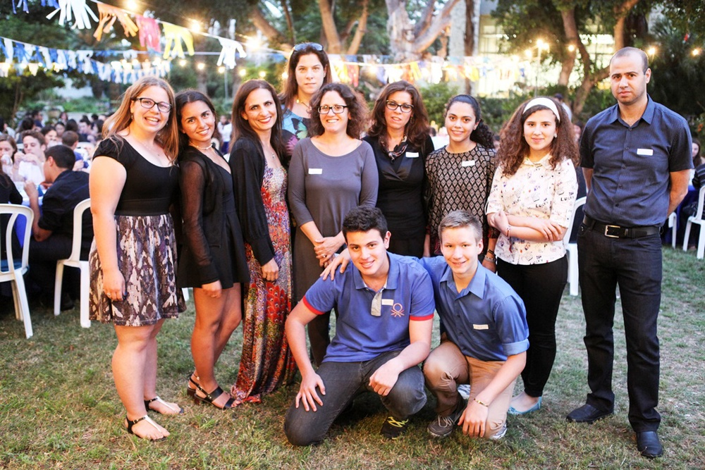 Click photo to download. Caption: On May 10, which was Mother's Day, staffers and students from Alexander Muss High School in Israel and the Q Schools program are pictured at an interfaith event for Israeli Arab and American Jewish teenagers. Credit: Italy Cohen.