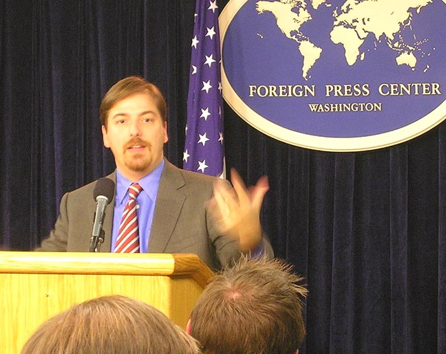 """Chuck Todd of """"Meet the Press."""" Credit: State Department."""