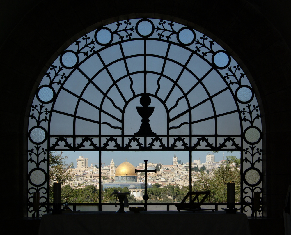 Click photo to download. Caption: A view of Jerusalem from the Dominus Flevit Church. Credit: Berthold Werner via Wikimedia Commons.