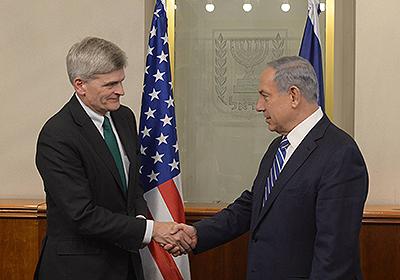 Israeli Prime Minister Benjamin Netanyahu meets with U.S. Sen. Bill Cassidy (R-La.) in Jerusalem. Credit:Amos Ben Gershom, GPO.