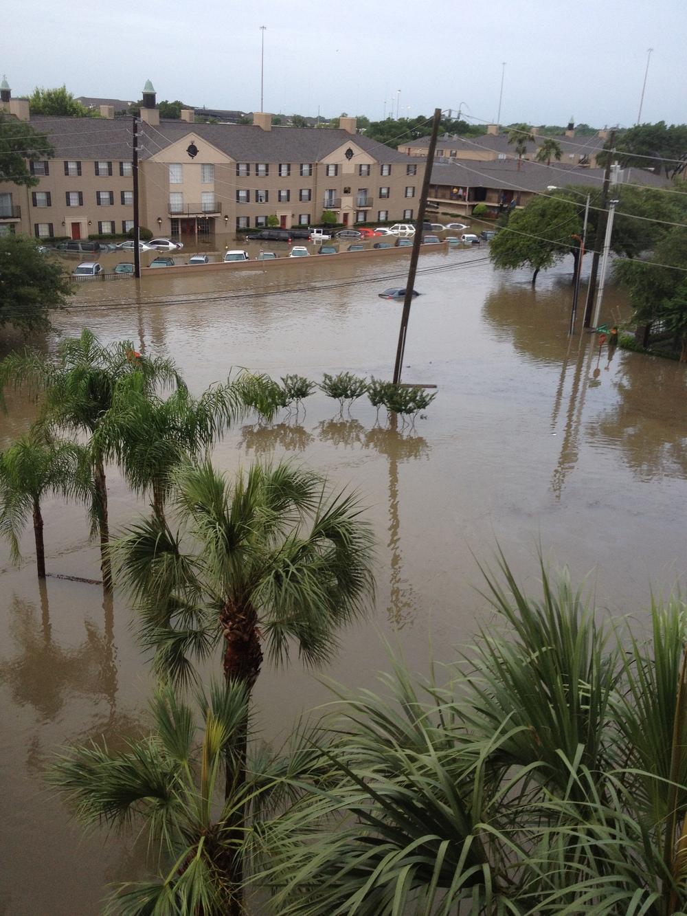 Flooding in Houston on Tuesday. Credit: Jacob Kamaras.